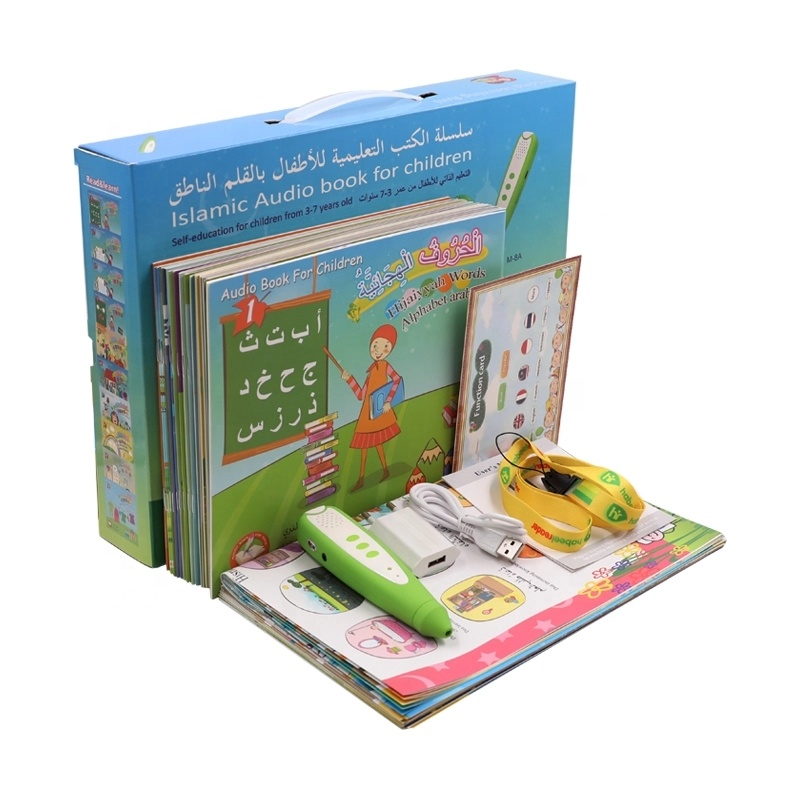Children learning Arabic English French language <strong>talking</strong> reading <strong>pen</strong> with sound books
