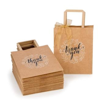 Custom Thank You Gift Bags Bulk with Handles