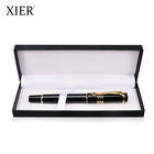 Luxury business custom logo fountain pen with box set metal pen gift box set for office business usage