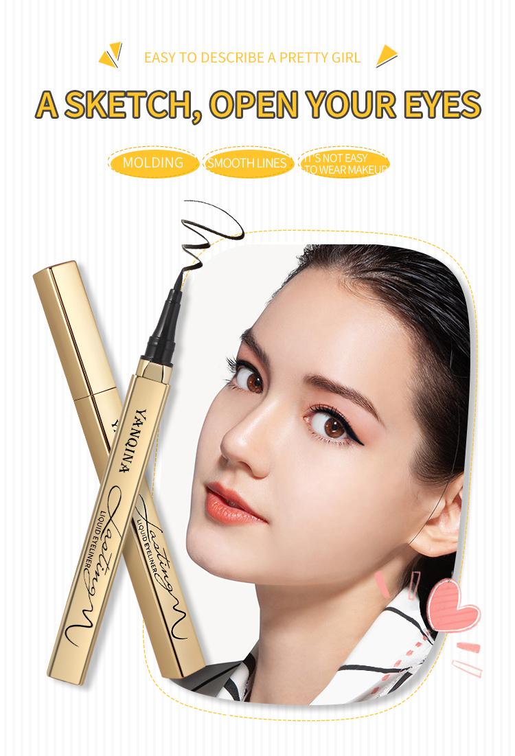 Private Label Cosmetics Wooden waterproof EyeLiner Pencil tube,eyeliner tube