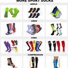Sporty Gym Socks Men Custom Logo Men White Black Bamboo Cotton Athletic Sports Cycling Basketball Crew Socks Gray Gym Workout Terry Sport Sox For Man