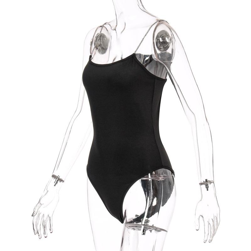 Schwarz bodysuit Weibliche Sleeveless Schwarz Für Frauen Mode Body tops weiß body für frauen