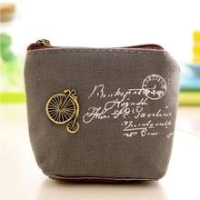 1 шт., Холщовый Кошелек для монет, кошелек на молнии, маленький мешок для монет, милый кошелек, держатель для ключей, держатель для карт, сумка ...(Китай)