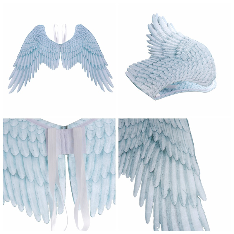 Halloween Non-Woven Fabric 3D Angel Wings Adult Dress up Party Masquerade Large Size Cosplay Props Adults Super Large Angel Wing
