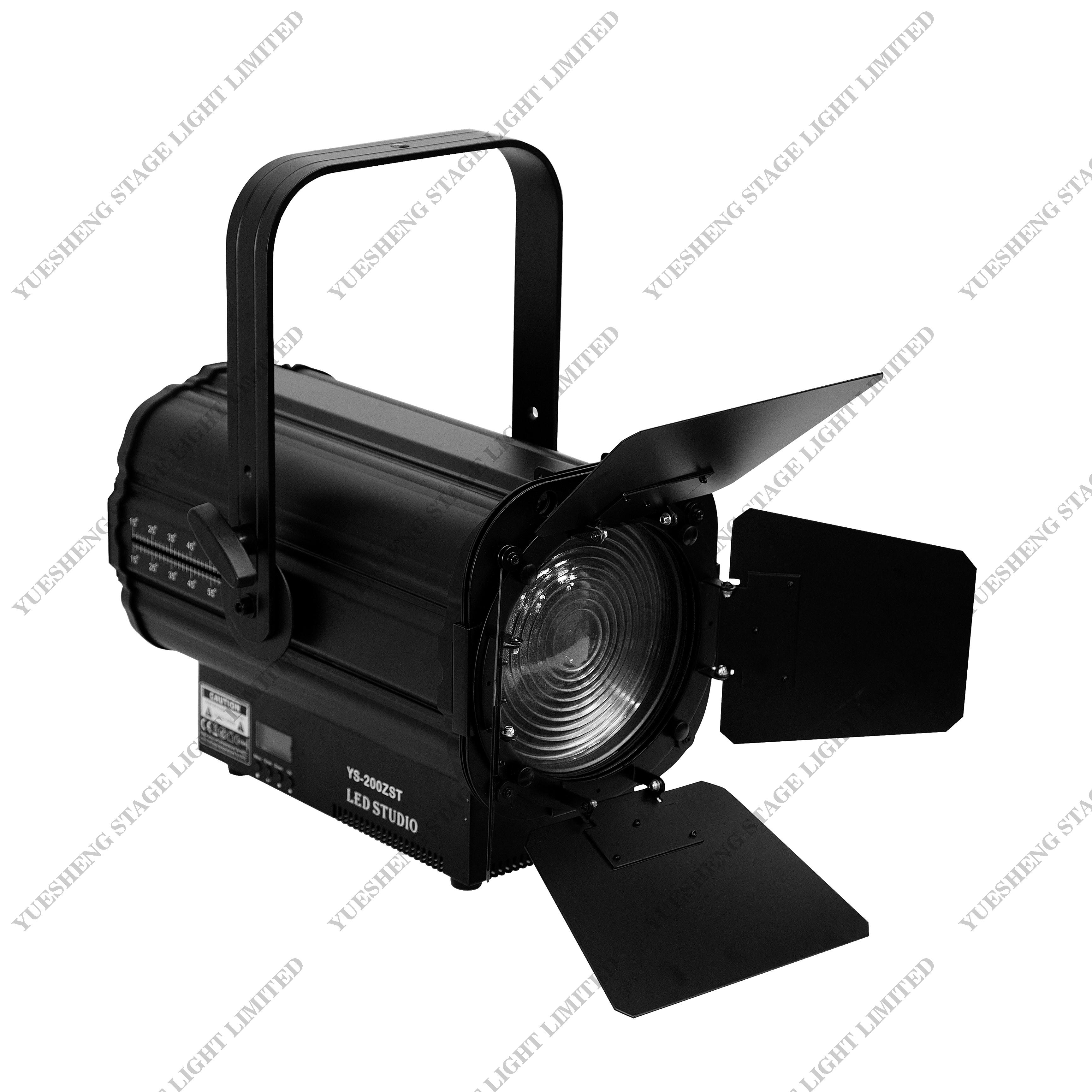 Best Quality 200w White Led Professional Dmx Stage Light Fresnel Spot Light