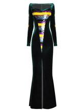 Женское платье с высоким разрезом, сексуальное вечернее платье для вечеринки, вечернее платье знаменитостей, Платье макси с длинным рукаво...(Китай)