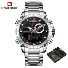 NAVIFORCE новые спортивные мужские часы, топ люксовый бренд кварцевые наручные часы для мужчин водонепроницаемые двойной дисплей дата часы Relogio...(Китай)