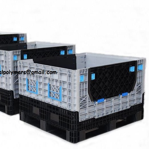 new high quality 2020 plastic pallet box heavy duty large transport industry plastic pallet box large plastic containers