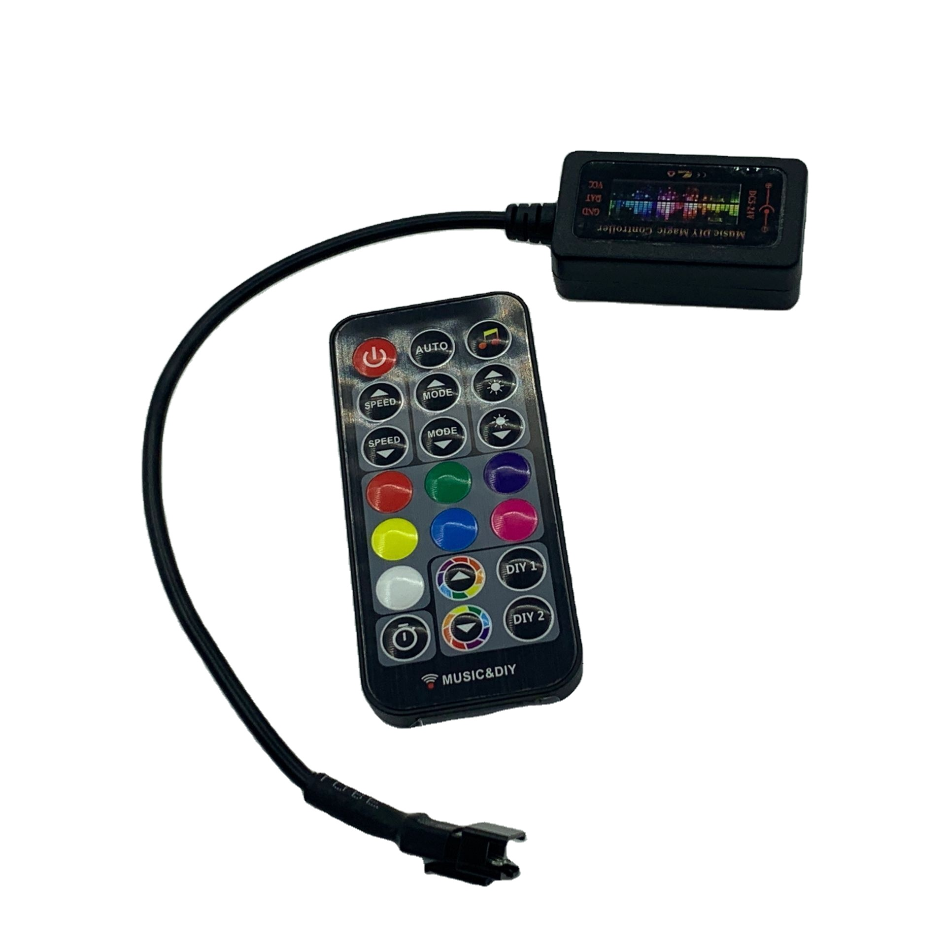DC5-24V  music LED controller 20Keys RGB Wireless Remote For WS2811 WS2812b sound controller