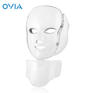 LED Photon Therapy Mask with 7 Color Light Treatment Face Beauty Skin Care Phototherapy Mask With Neck Mask