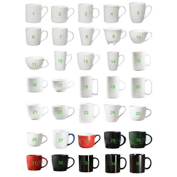 Custom Porcelain Mugs Cups Plain White sublimation Ceramic Mugs Blank Promotional Gift Coffee Ceramic Mugs