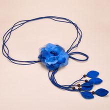Женский шифоновый пояс WKOUD EAM, корейский Повседневный Пояс с кисточками и цветами, свадебное платье с цепочкой, PE083, 2020(China)