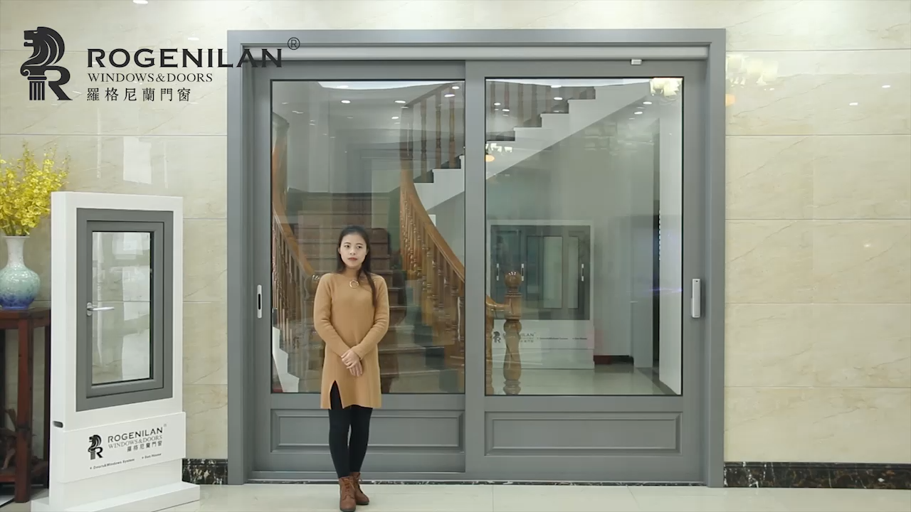 Modern aluminum profiles automatic door sliding design