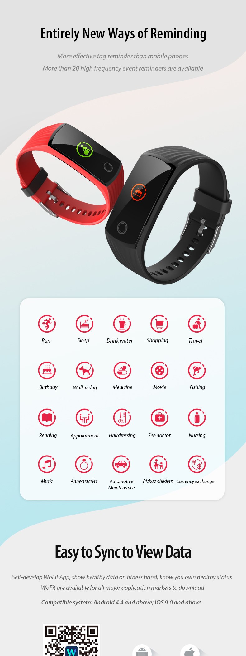 Gift promotion Smart Bracelet Band Watch V16 Fitness Tracker GPS Heart Rate IOS Android BLT4.0 IP68 Pedometer