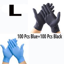 20 ~ 100 шт новейшие перчатки Guantes латексные синие/черные класс водонепроницаемые одноразовые перчатки для аллергии безопасные рабочие guantes ...(Китай)