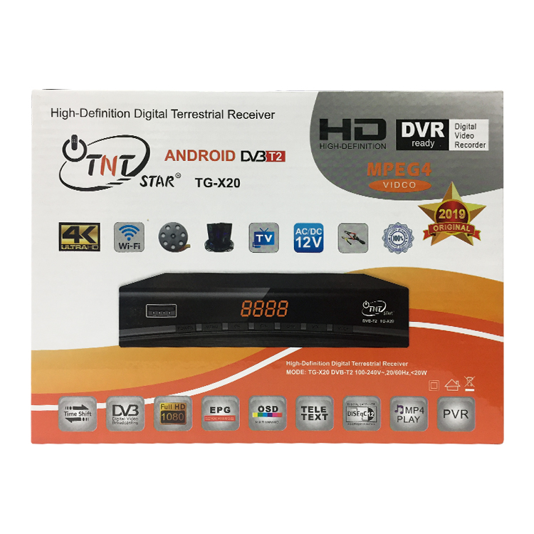 2019 TNT STAR hight quality  set top box/decoder /Digital DVB T2 receiver hot selling in Africa Congo/Malaysia