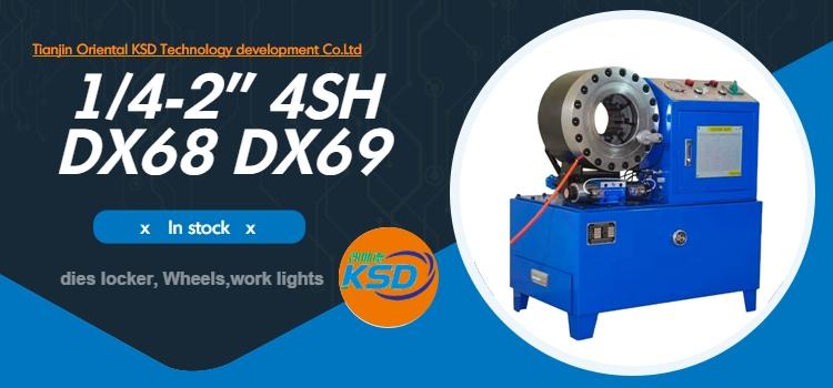 CE automatische 2 zoll 4sp hydraulische kupplung schlauch feuer crimpen maschine drücken maschine dx68