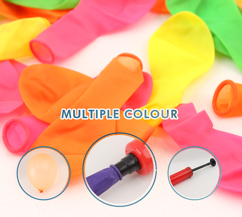 Latex birthday party plastic colorful printing decoration cheap balloon