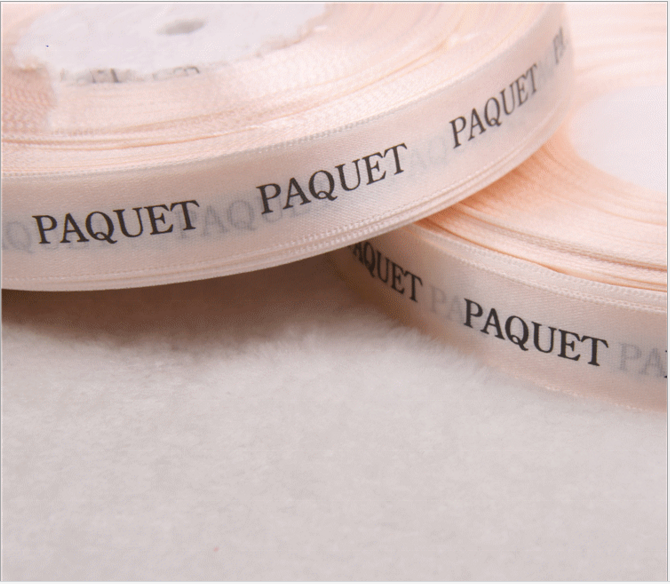 wholesale custom printed satin ribbon with logo