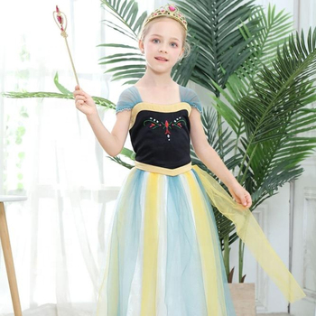 Chinese Wholesales Fashion Party Frozen 2 Anna Princess Dress