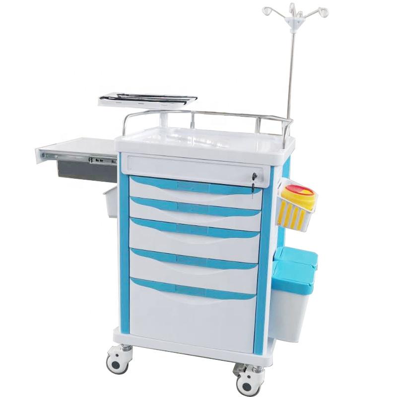 Медицинская ABS аварийная тележка дешевая Больничная Тележка crash cart цена