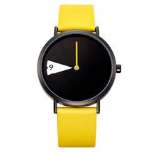 Sinobi женские часы, креативные наручные часы, женские часы с желтым кожаным ремешком, наручные часы, Montres Femme Reloj Mujer(China)