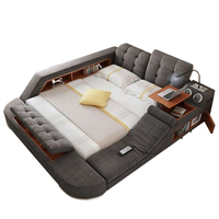 2019 new high quality soft modern king size bed frame