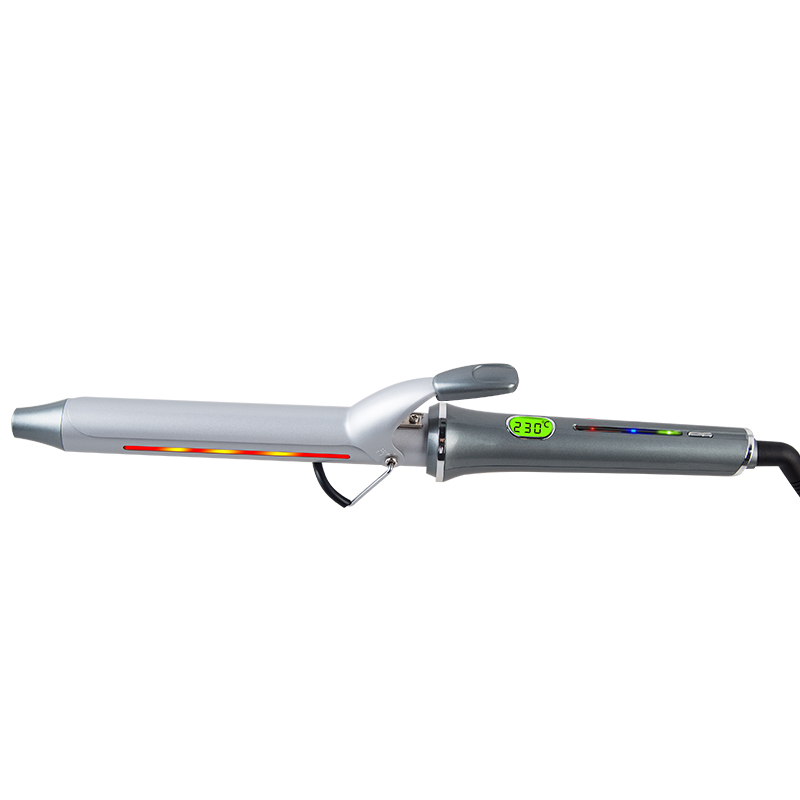 New design professional infrared  LCD  hair curling iron