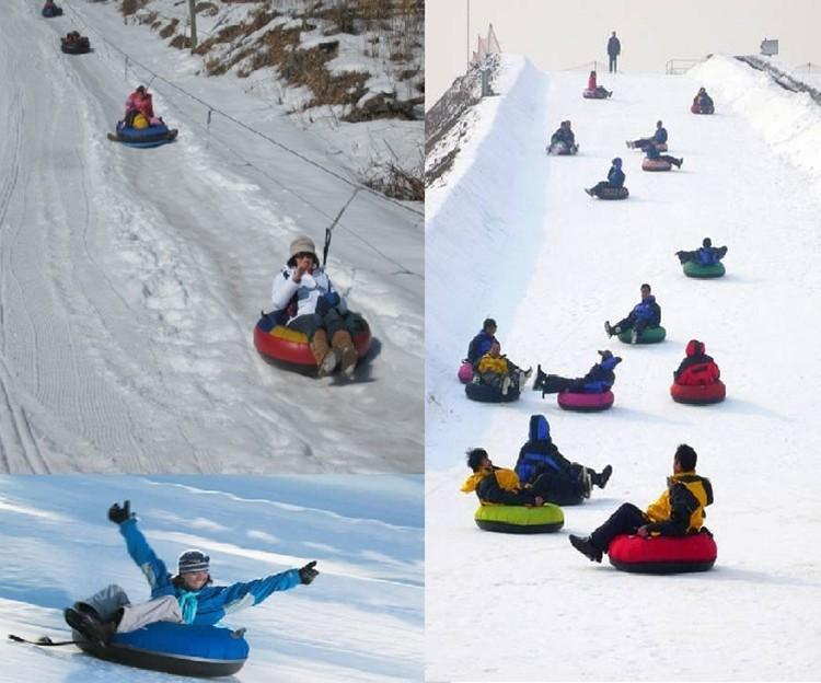 Hot Sale Inflatable Snow SledSnow Tube Freeze Resistant Ski Circle Snow Skiing Sledge Snow Racer