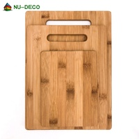 Eco friendly engraved custom logo organic kitchen bamboo wood blank meat chopping cutting board set with handle
