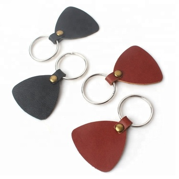 Cheap Key Tag Chain Wholesale Design Custom Shape Real Genuine Leather Keychains for Decoration