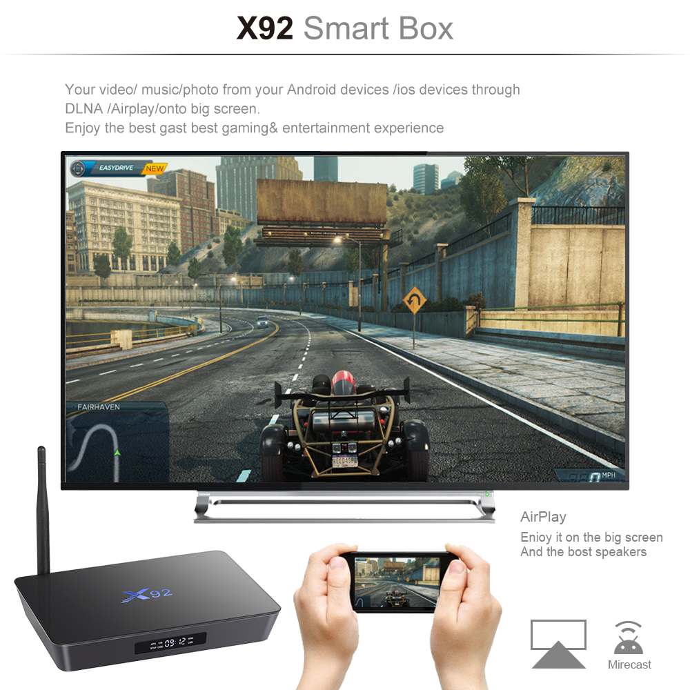 High Quality Android TV Box Amlogic S912 4K HD Set Top Box Octa Core Internet TV Box