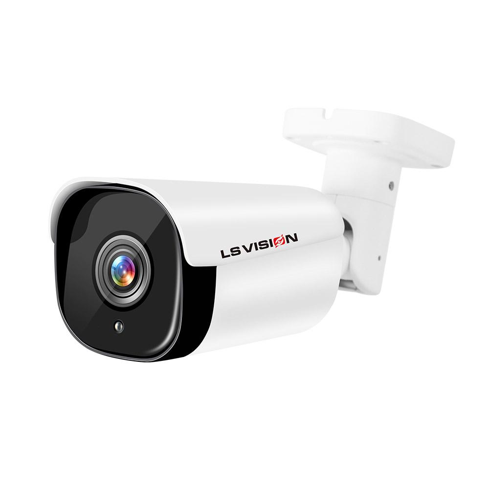 LSVISION H.265 8 Megapixel 4K Motion Detection Long Distance 100M Outdoor IP POE CCTV Bullet Security Surveillance Camera