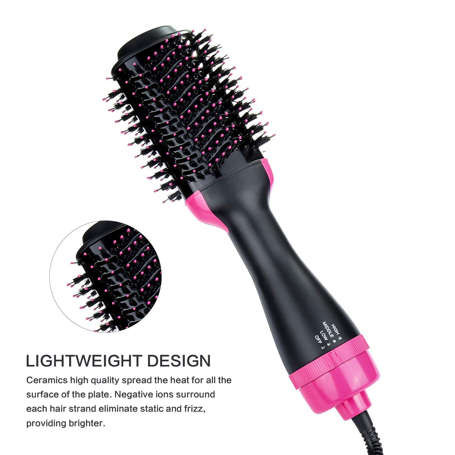 Professional 3 In 1 Electric Styling Brush One Step Hair Straightener Dryer Volumizer