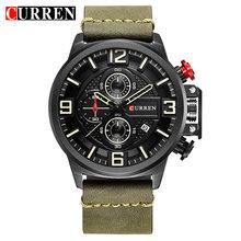 CURREN новые мужские часы Модные Бизнес Спортивные Хронограф красные наручные часы водонепроницаемые кварцевые мужские часы(Китай)