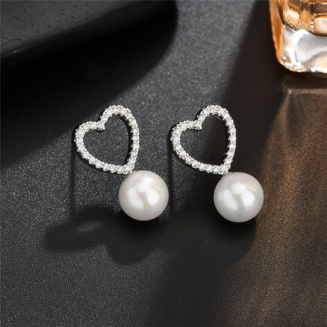 High Quality Women Jewelry Chinese Jewellery Fashion Women Freshwater Pearl Stud Earring