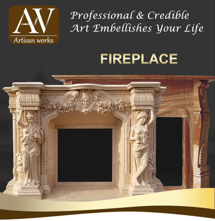 decorative french design marble stone fireplace mantels
