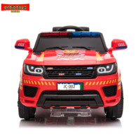 Police Pursuit 12V Electric Ride On Car for Kids with 2.4G Remote Control, Siren Flashing Light, Intercom, Bumper Guard