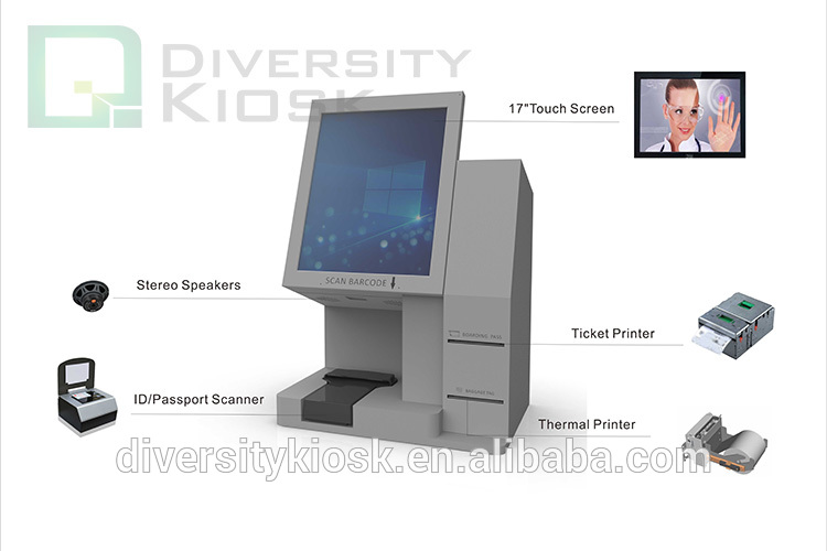 Airport Portable Desktop Self-check In Self Boarding Ticket and Baggage Tag Printing Kiosk