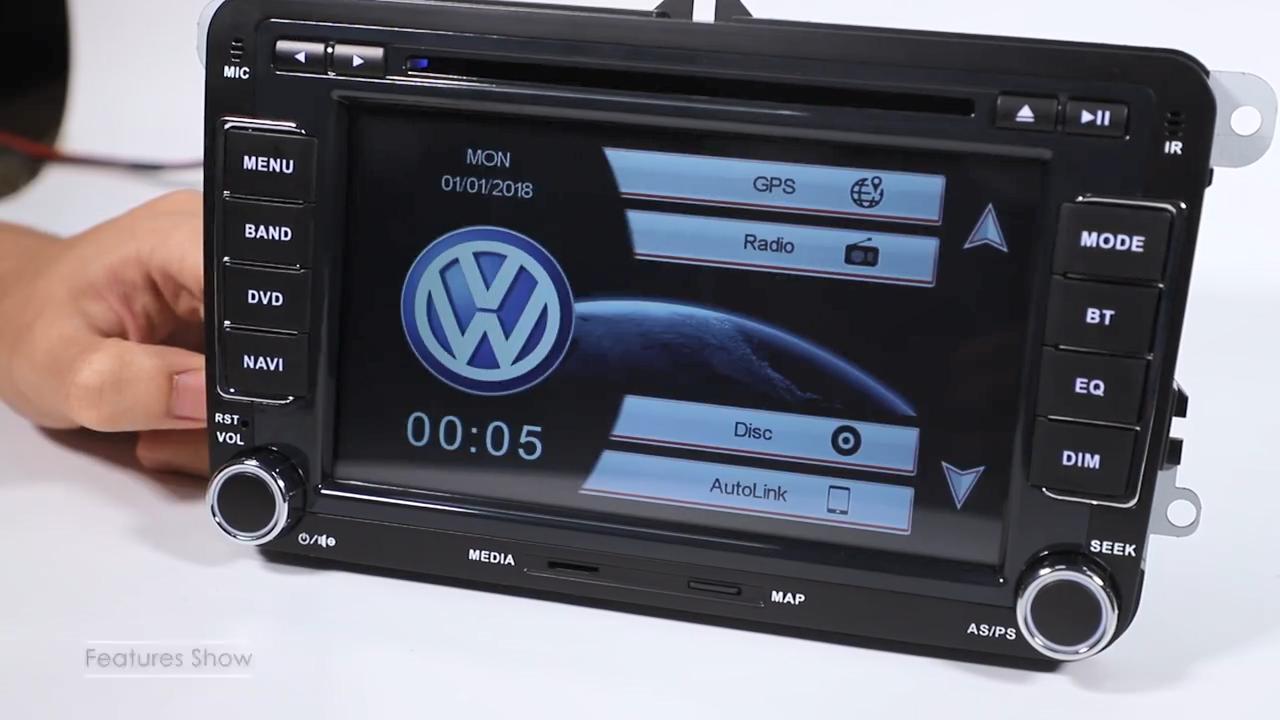 7 inch Touch Screen Car Radio BT Gps navigation CD DVD Player Stereo+CANBUS forVW(Golf,pasat,Skoda,Tiguan,Bora,Leon)AutoRadio