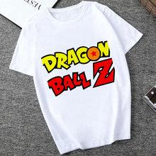 Футболка Dragon Ball Kawaii, футболка Super Saiyan Dragonball Z, забавная Футболка Harajuku, аниме, Мужская футболка японского Гоку, забавная футболка 2020(Китай)