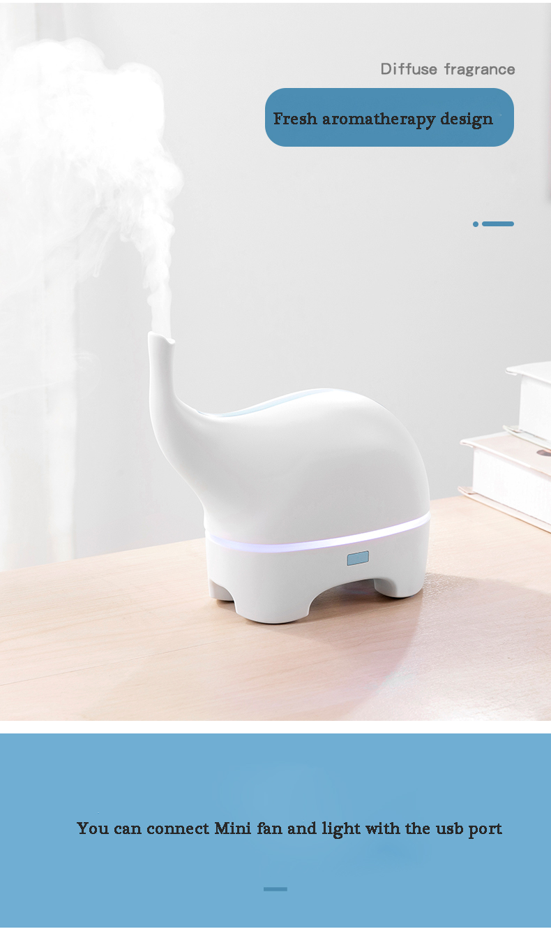Pengwing 2020 Elephant Shaped Colorful Wholesale Smart Essential Oil Aroma Diffuser