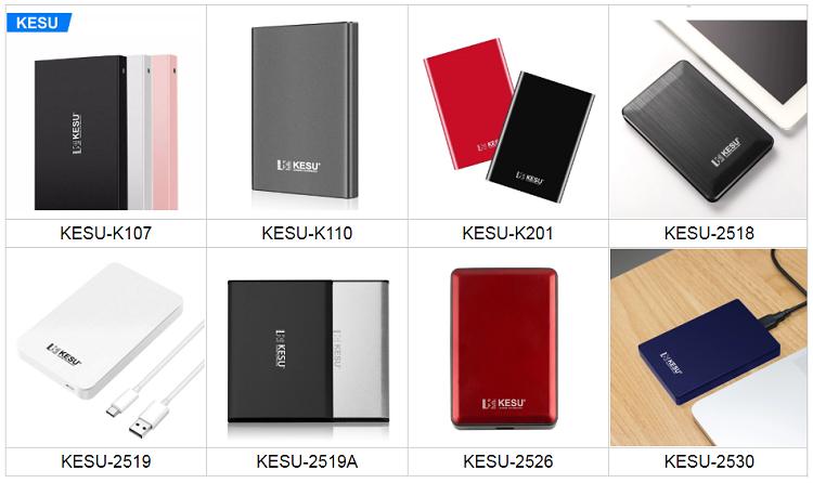 "KESU 2518 de 2,5 ""disco duro externo portátil USB 3,0 80GB 120GB 160GB 250GB 320GB 500GB 2TB 1TB de disco duro externo disco duro para PC/Mac"