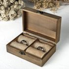 Wedding Decor Wood Wedding Ring Box Wooden Bearer Holder Rustic Engagement Ring Gift Engraved Ring Box Wedding Decor For Ceremony