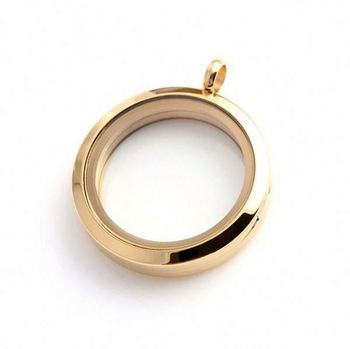 Fashion Jewelry Accessories Wholesale Steel Opening Round Memory 14k Gold Locket
