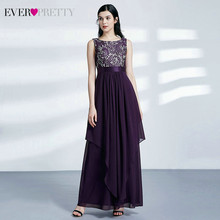 Цветочные кружевные платья невесты Ever Pretty A-Line, без рукавов, с круглым вырезом, элегантные свадебные платья 2020 размера плюс(Китай)