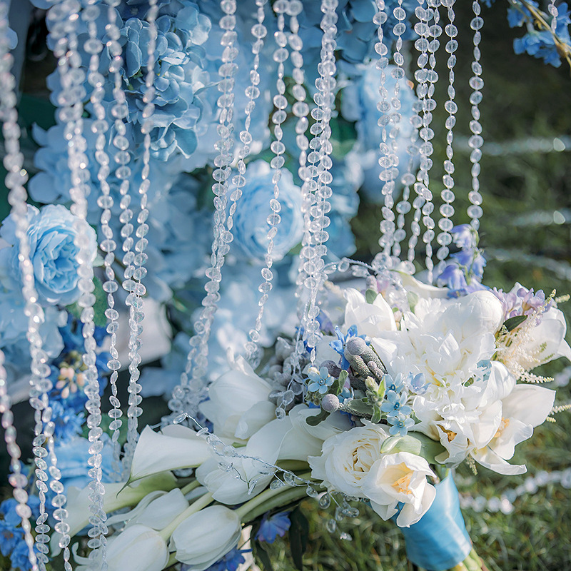 RG012 clear Acrylic crystal bead roll garland for decoration