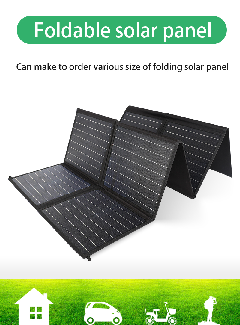 Hot sale foldable solar panel blanket 100W Monocrystalline ETFE corrosion resistant folding charging kit for travelling RV Yacht