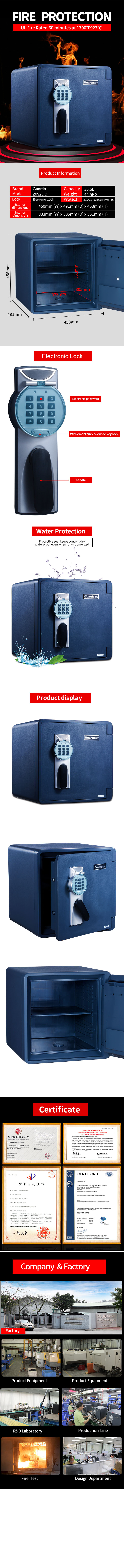 Guarda professional fireproof safe box for business for money-4