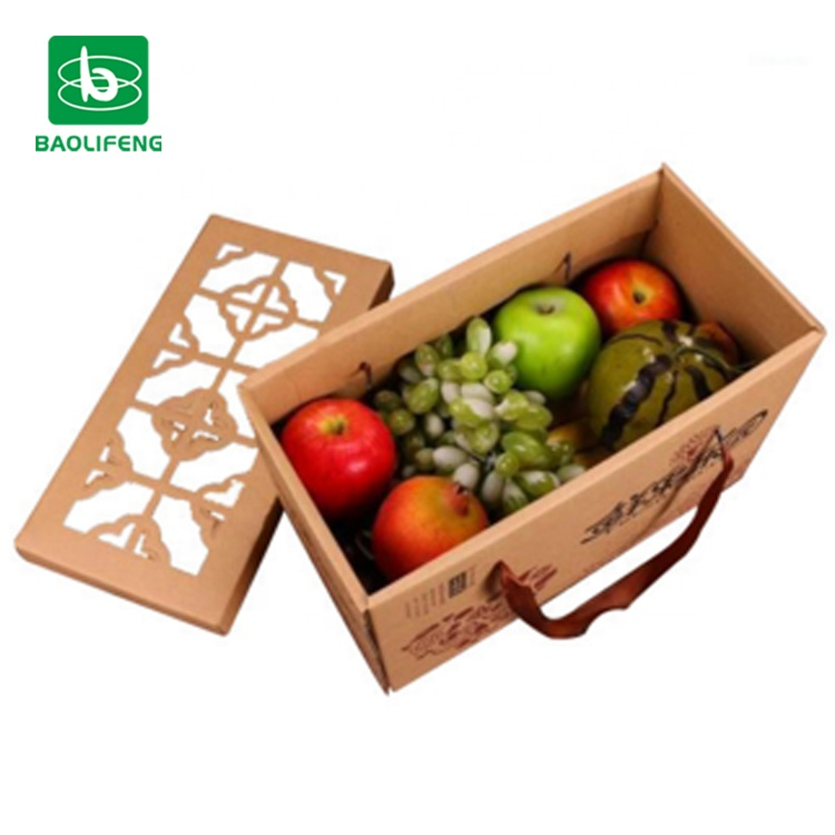 custom corrugated paper food packing box for fruit packaging